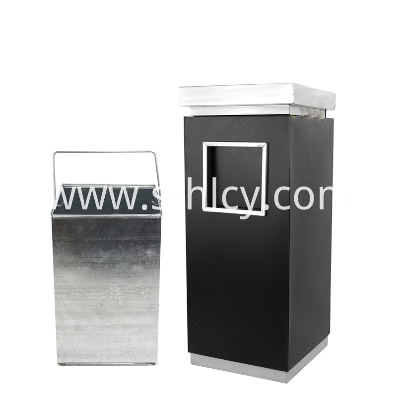 410 Cuboid Stainless Steel Trash Can