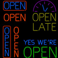 OPEN NEON SIGN FOR BUSINESS
