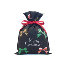 Bowknot Pattern Black Christmas Ladies' Gift Packing Bags