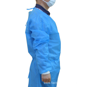 Isolation Disposable Light Blue PP+PE Surgical Gown