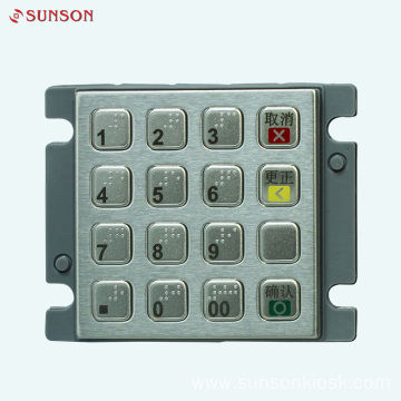 Braille Encryption PIN pad for Vending Machine