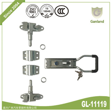 Steel Lockable Trailer Door Lock Assembly