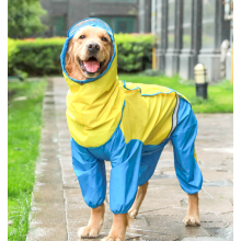 Brown and Yellow Pet Jumpsuit Raincoat