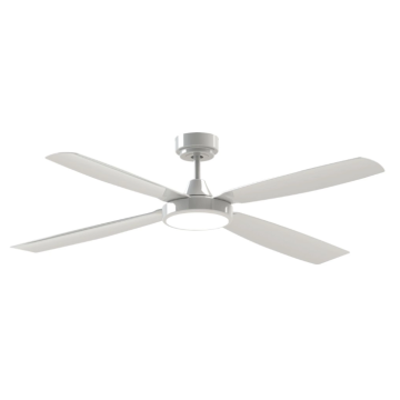 ceiling fan with light white
