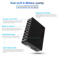 16 Ports 10/100Mbps Network Switch Fast Ethernet LAN RJ45 Vlan Hub Desktop PC Switcher With EU/US Adapter