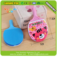 3D Sport PingPang shape mini Eraser for kids