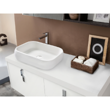 Rectangle artificial countertop washbasin for bathroom