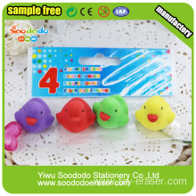 fancy cute little duck eraser use for promotional gift