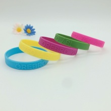 New Products 2016  Embossed Silicone Wristbands