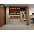 Madilim na Walnut at White Bedroom Dressing Cabinets