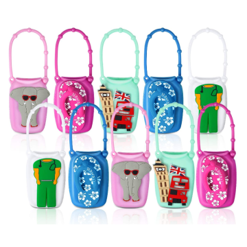 Colorful 50ml Bottle Cartoon Silicone Hand Sanitizer Case
