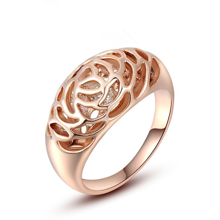 Rose gold bridal engagement wedding rings jewelry