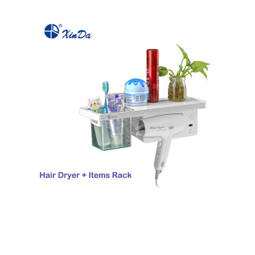 Hair dryer with shelf