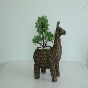 coffee water hyacinth handicraft alpaca decoration pot