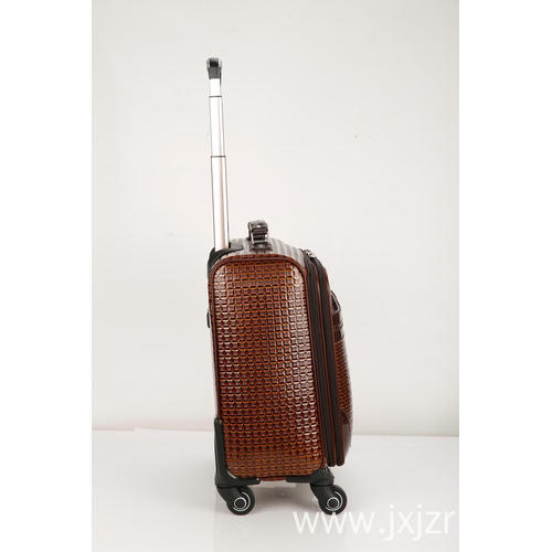 Fancy PU zipper luggage