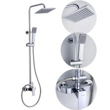 Stainless Steel High Pipe Rainfall Shower Faucet Set