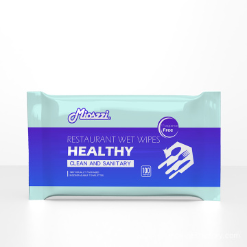 OEM Single Packaged Restaurant Wet Wipes