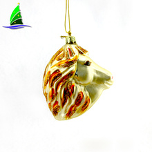 Golden Horse Head Ornament