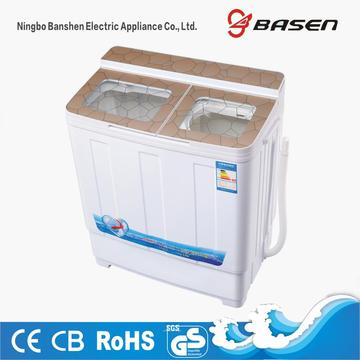 Gold Transparent Glass Cover 6KG Twin Tub Washing Machine