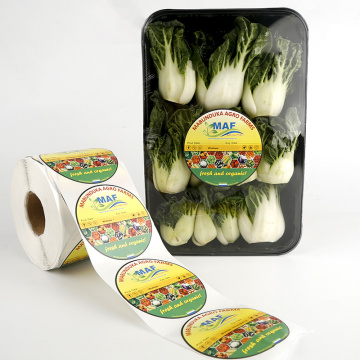 Personalised pre printed fruit vegetable label stickers roll