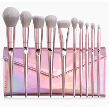 10 High quality Rose Gold Makeup Brushes