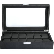 carbon fiber luxury black watch packing box