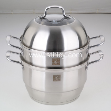 304 Stainless Steel Induction Kitchen Food Steamer Pot