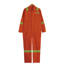 Poly-cotton Long sleeve safety coverall