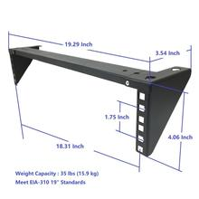 "2U 19"" Lightload Folding Wall Mount Rack Bracket"