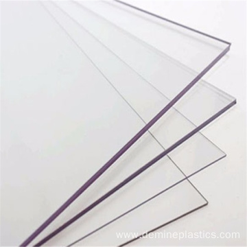 Custom crystal solid polycarbonate partition sheet