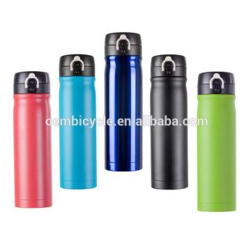 outdoor sports colorful stainless steel bicycle water bottle