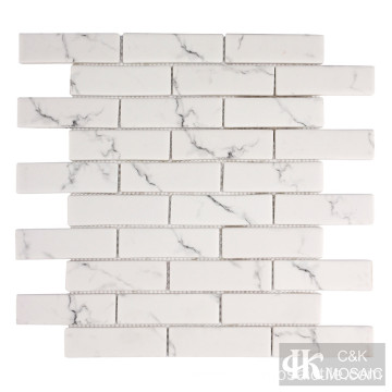 Marble Stone Look Glass Mosaic Subway Tile Sheets