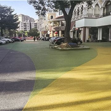 Community Colorful Resin Pavement