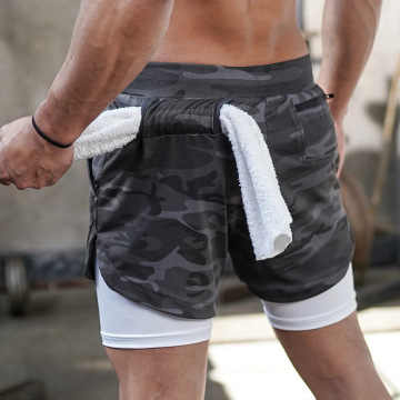 Men's camouflage Gym Workout Shorts