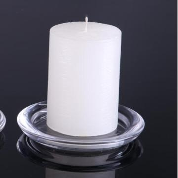 Hand Made Round Candle Plate