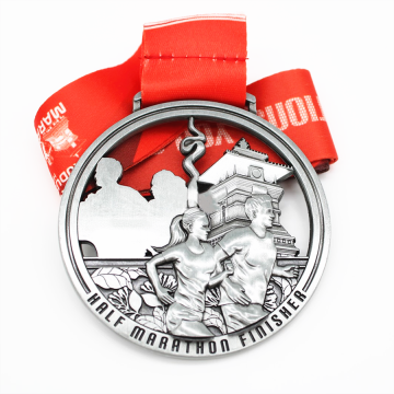 Running award silver metal medal price