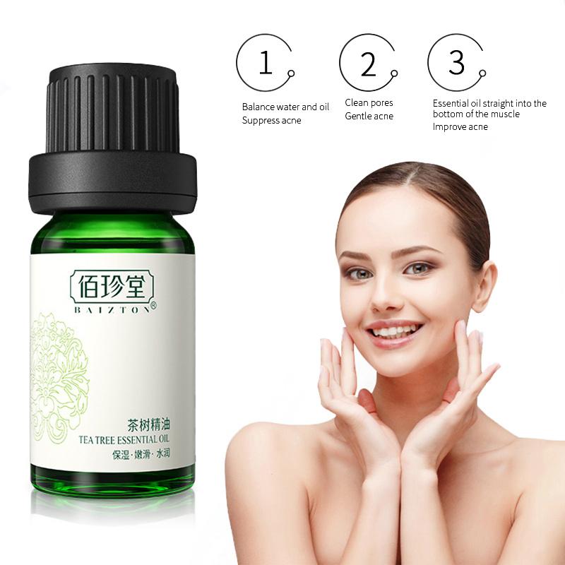 Natural Tea Tree Essential Oil Acne Cure Blackheads Shrink Pores Moisturizer Removal Melasma Massage Oil Face Skin Care TSLM1