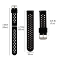 Universal 18mm-24mm Width Silicone Watch Band