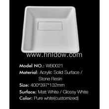 Countertop Pure Acrylic PMMA washbasin for bathroom