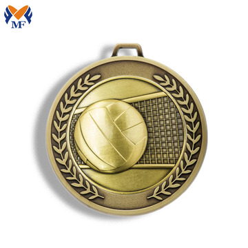 Volleyball award sports medals gold metal
