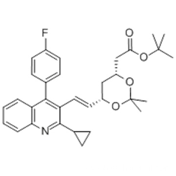 (4R,6S)-6-[(1E)-2-[2-Cyclopropyl-4-(4-fluorophenyl)-3-quinolinyl]ethenyl]-2,2-dimethyl-1,3-dioxane-4-acetic acid tert-butyl ester CAS 147489-06-3