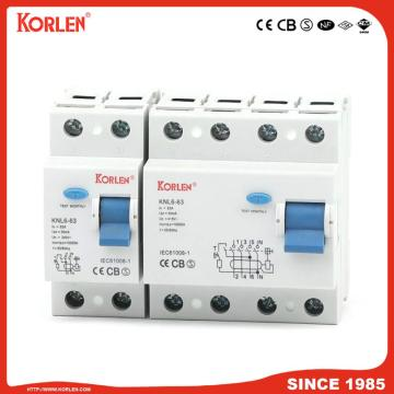 Residual Current Circuit Breaker KNL6-63 63A CE 2P
