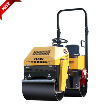 Double Steel Drum New 1 Ton Vibratory Compaction Roller