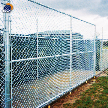 yellow pvc coated chain link fence