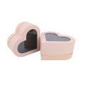Heart Shaped Paperboard Gift Box with PVC