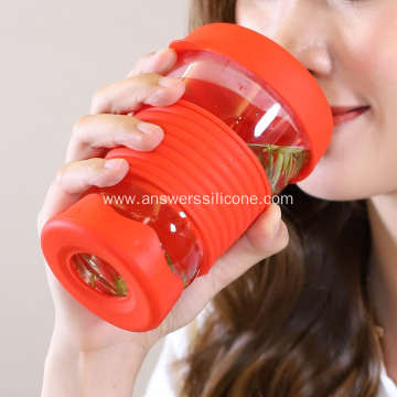 Custom heat resistant silicone holder for coffee cup