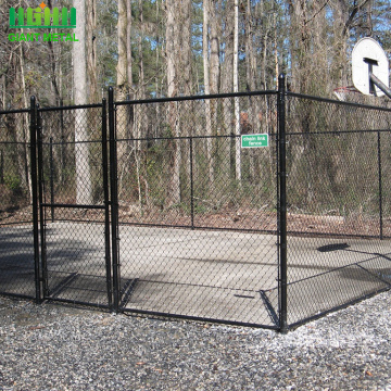 black powder pvc coated chain link fence stock