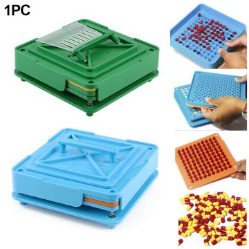 100 Holes Flate Tool Durable Manual Encapsulator Powder Food Grade Fast Capsule Filling Machine DIY Dispensers Pharmaceutical