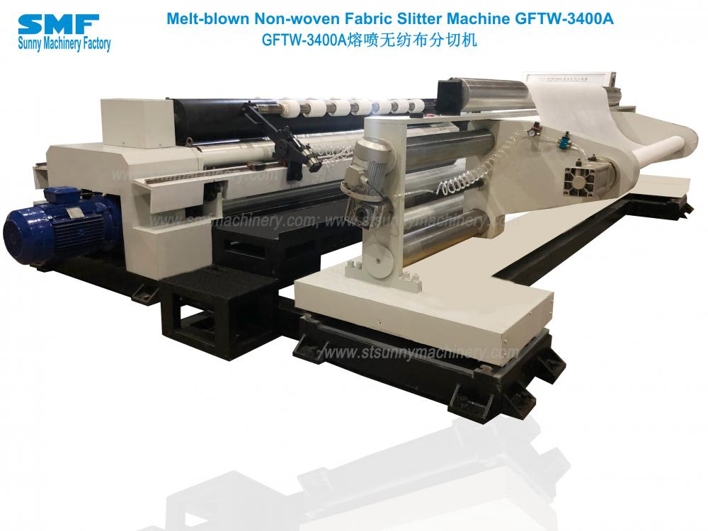 Fask mask nonwoven fabric slitter rewinder
