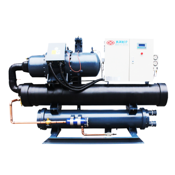 High performance screw type water cooled water chiller